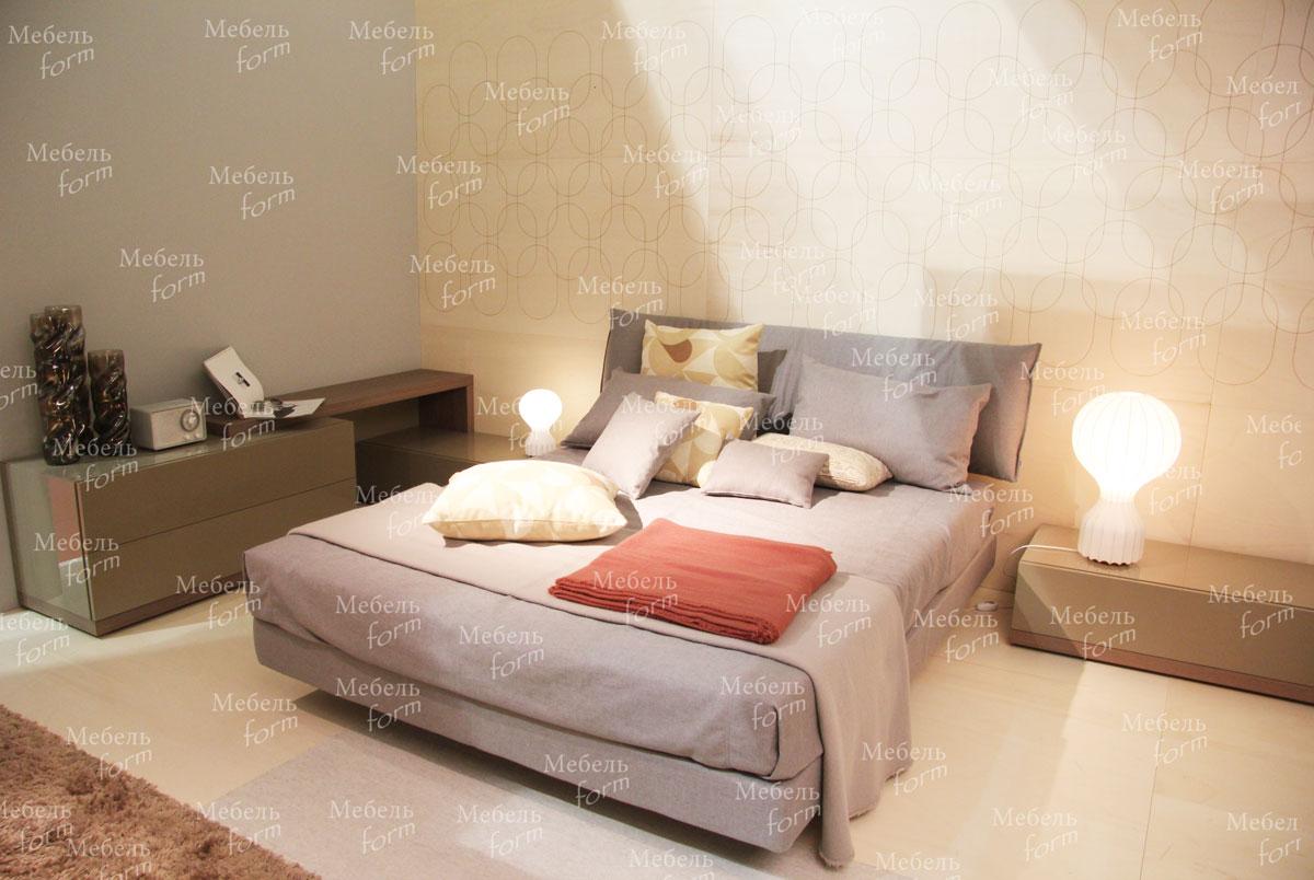 уютная спальня с тумбами цвета хаки спальни на заказ в минске