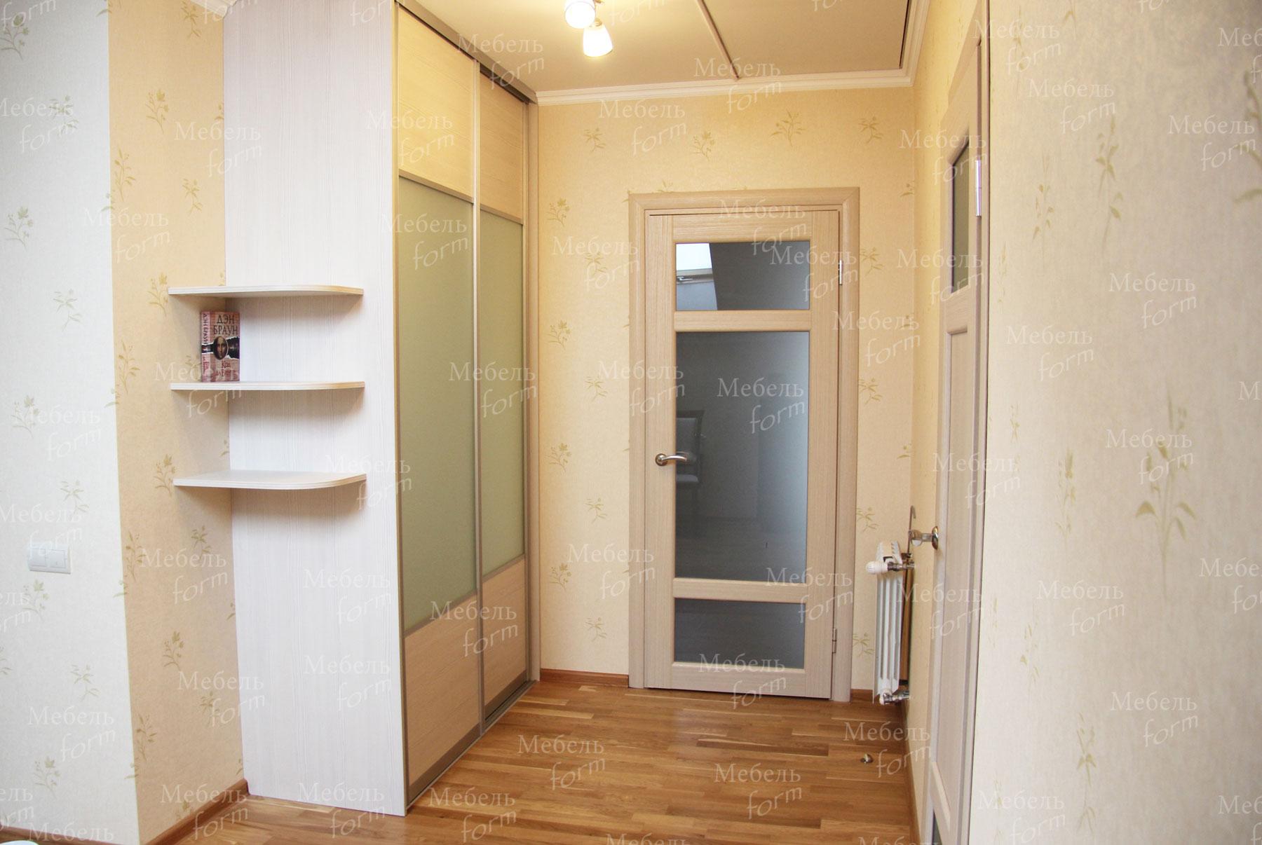 Шкаф-купе вудлайн кремовый и сатинированное стекло шкафы куп.